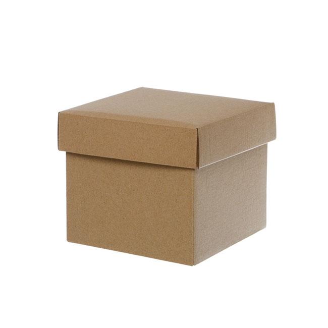 Gift Box With Lid Mini Flat Pack Matte Kraft 13x12cmh