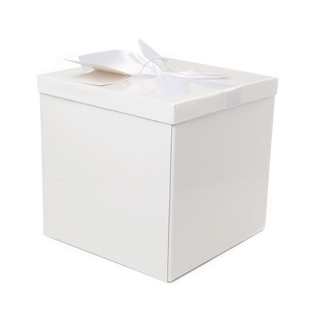 flat pack gift box extra lg flat pack white 255x255x250mmh. Black Bedroom Furniture Sets. Home Design Ideas