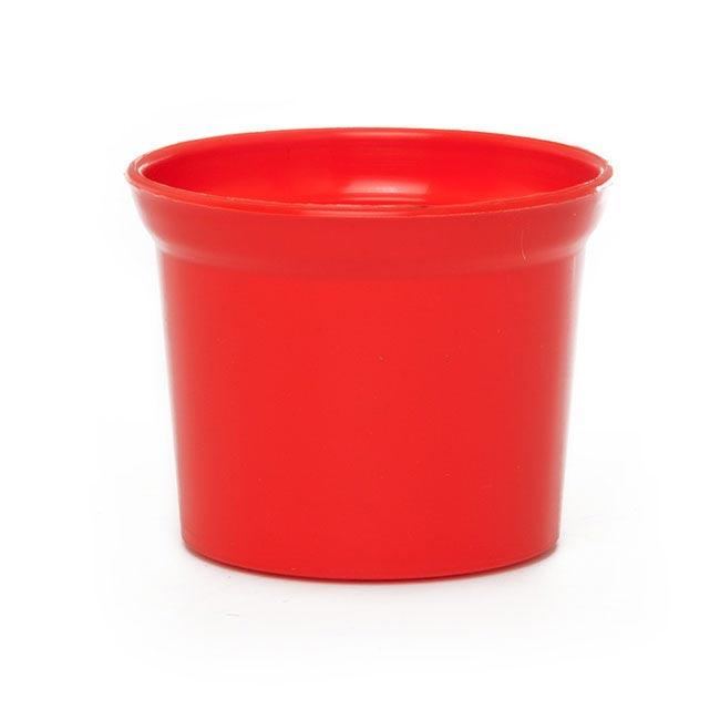 Plastic Wedding Bands >> Plastic Pot Mini 10Dx8cmH Red