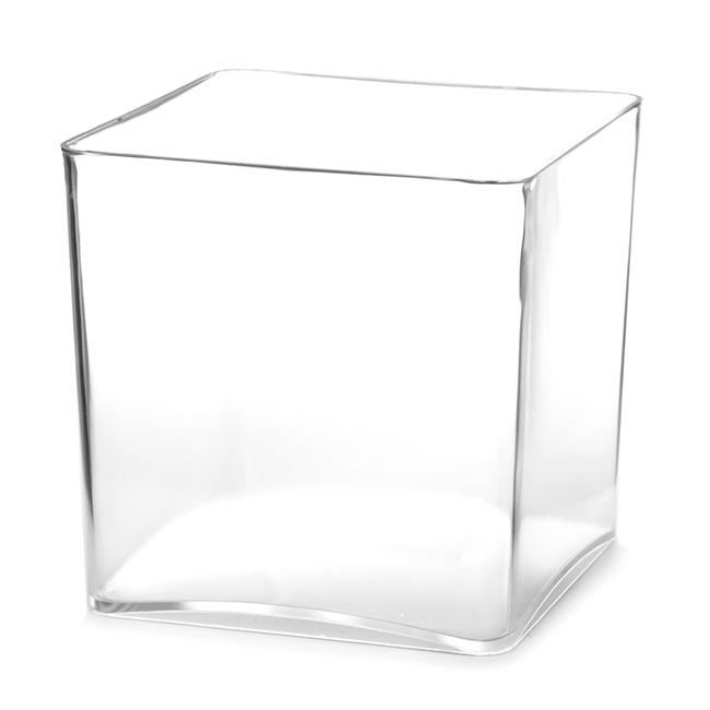 Polyvase Acrylic Cube 13x13x13cmh Clear